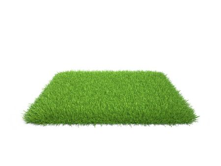square piece of cropped grass to be installed