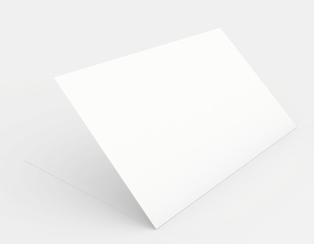 A white sheet of paper in soft shades of gray photo