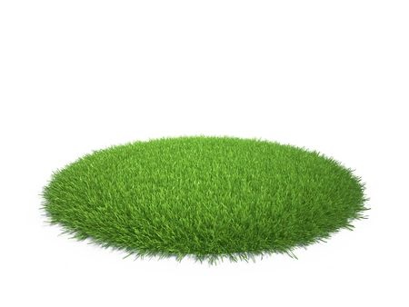 Isolated as a grass arena