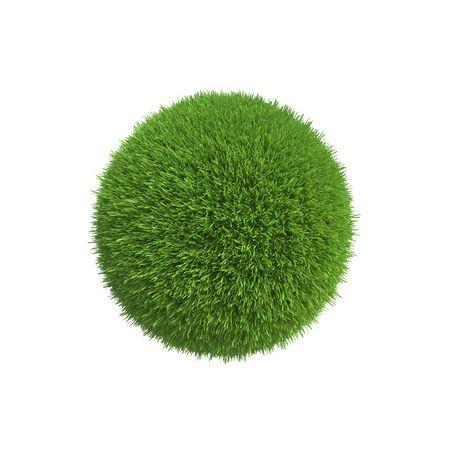 esfera: Una bola de hierba verde simboliza la conservación de la energía en el planeta Foto de archivo