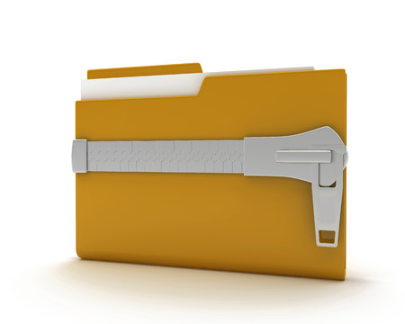 illustration of a folder on a white background symbolizing safety information illustration
