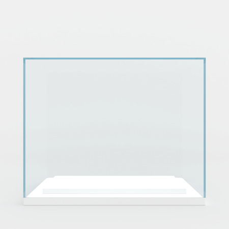 glass podium  3d render  isolated on gray   Stock Photo - 25671468