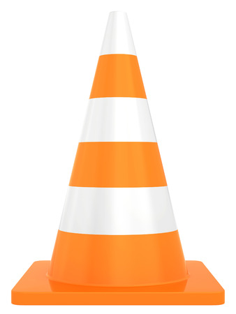 Road traffic cone  Isolated on white background photo