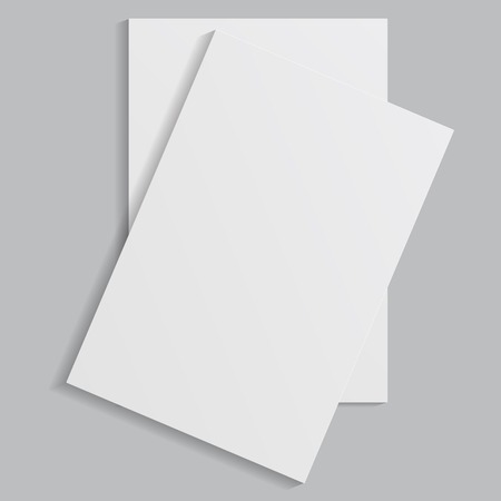 white sheets of paper on a gray background
