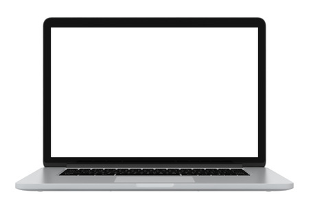 modern glossy laptop  isolated on white background