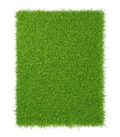 piece of cropped grass to be installed  isolated on white background