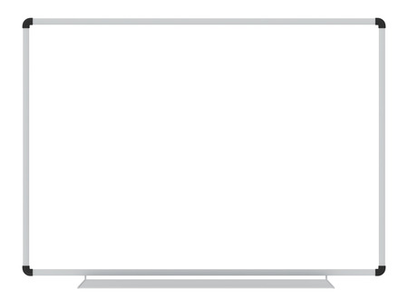 Whiteboard  blank white board isolated on white  school whiteboard photo