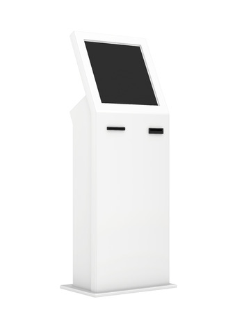 information kiosk  Information terminal  interactive kiosk on white background Imagens