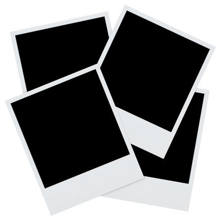 polaroid photo frames isolated  Retro blank photo frame backgroun Banco de Imagens - 28129822