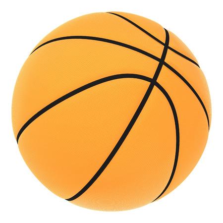 Orange basket ball, isolated in white background  photo