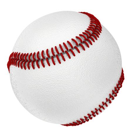 白い背景に分離された新しい野球クローズ アップ