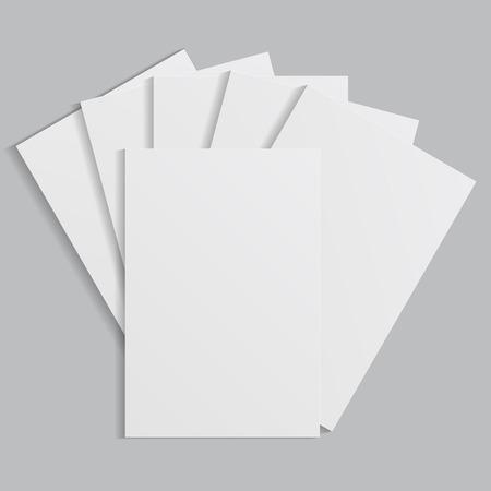 empty paper blank sheet isolated on white background photo