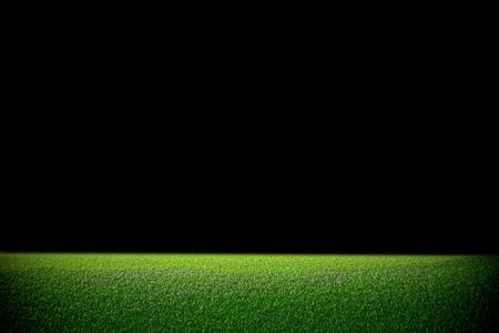 Image of stadium in dark  background of green lawn Stock Photo