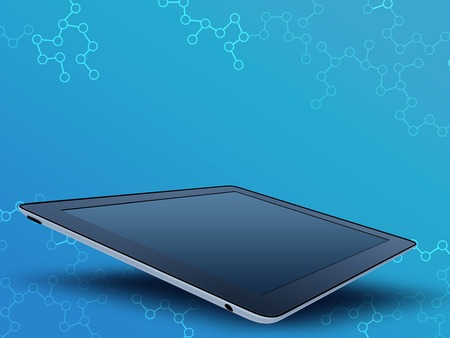 mobile tablet with a glossy screen on an abstract background Stock Photo