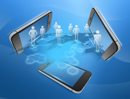 phones and people united in the command network