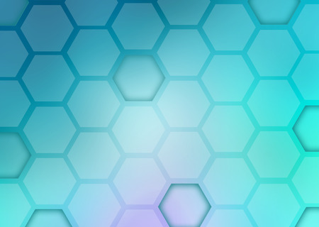 Abstract blue background with shape hexagons. technology illustration
