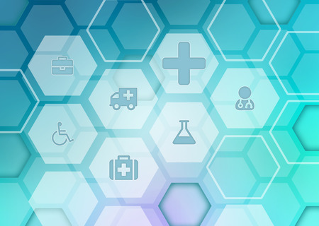 Abstract background with icons on the medical theme