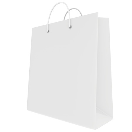 Empty package isolated on white background. 3d render Stock Photo