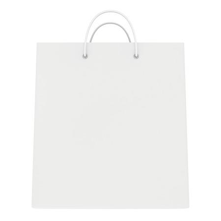 空のパッケージは、白い背景で隔離。3 d のレンダリング 写真素材