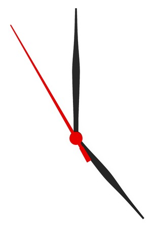 timeless: Abstract clock with arrows no numbers on a white background. Stock Photo