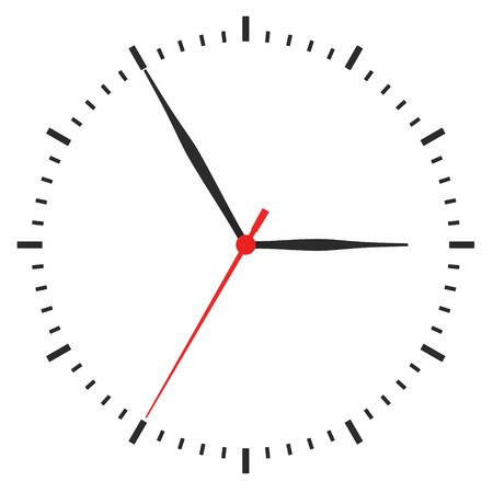metering: clock with arrows no numbers on a white background.