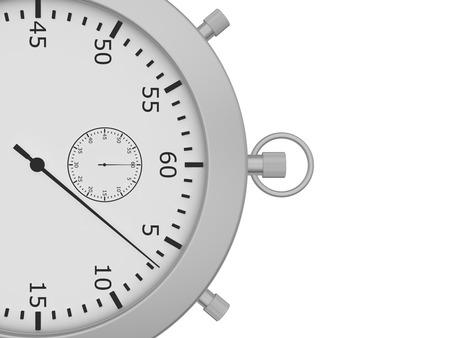 cronometro: Cerrar cron�metro aisladas sobre fondo blanco. 3d