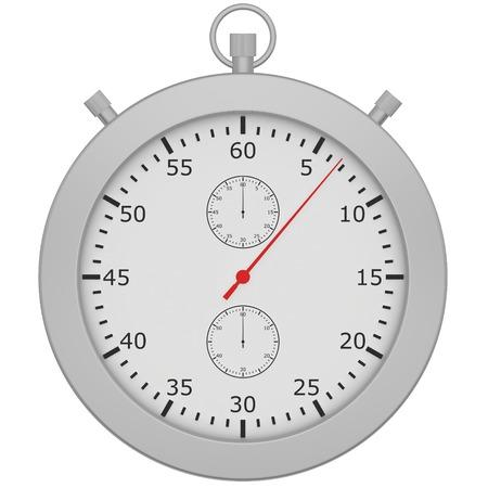 cronometro: Cron�metro con bot�n aislado sobre fondo blanco.