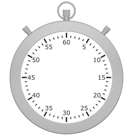 cronometro: Cron�metro en blanco aislado en fondo blanco. 3d Foto de archivo