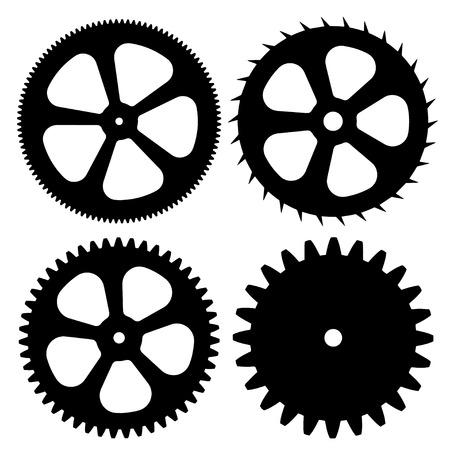 eps: Vector black gears on white background. eps 10 Illustration