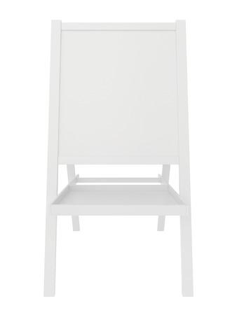 sandwich board: Blank sandwich board. 3d rendering on white background. Stock Photo