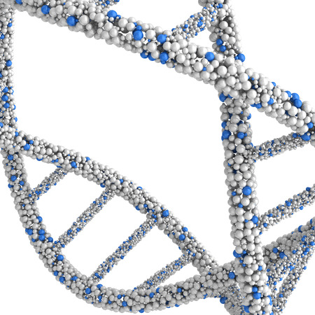 approximate: Approximate twisted DNA molecule isolated on white background.