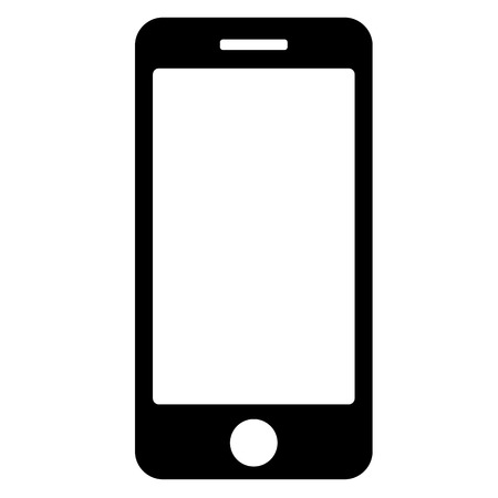 vector black phone icon on white background.   Illustration