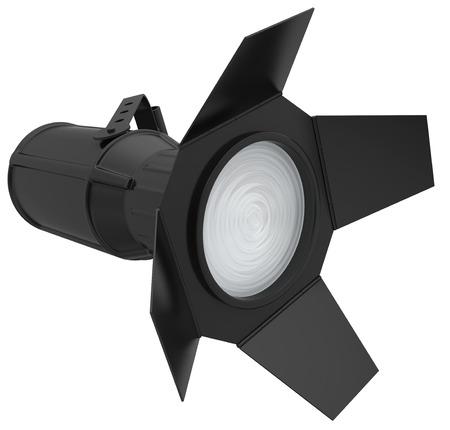 Spotlight isolated on white background. 3d render photo