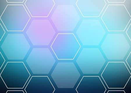 blending: Abstract colorful background of hexagonal shapes in the form of honeycombs Stock Photo