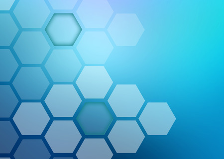 Abstract colorful background of hexagonal shapes of different sizes.