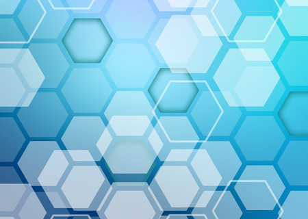 randomly: Abstract colorful background of hexagonal shapes randomly collected.