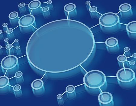 deoxyribose: Futuristic dna, abstract molecule cell illustration. Background medicine