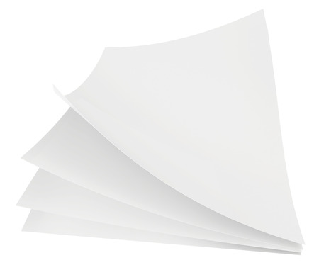white sheets of paper on a white background photo
