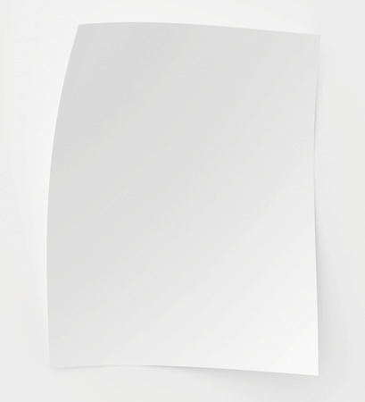 underneath: Blank sheet of paper with a shadow underneath it.