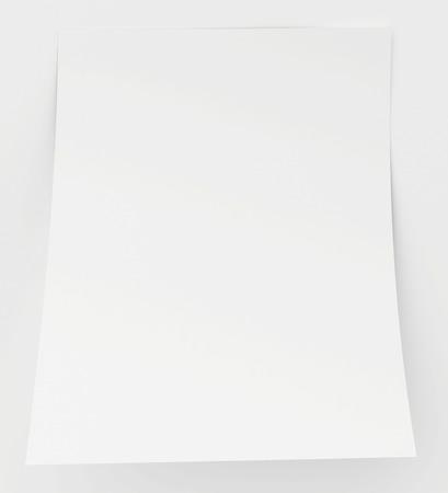 blank sheet: Hoja en blanco del papel con el borde doblado.