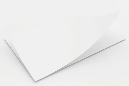 sheets of paper: Realistic 3D rendering of blank white sheets paper.