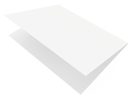white sheet: White sheet of paper on white background