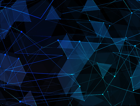 blue network: Abstract blue line network background. Technology concept of global internet.