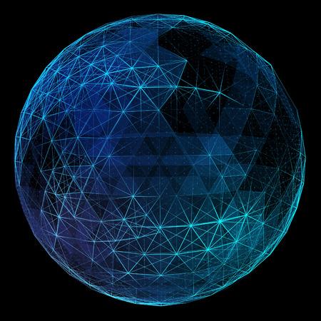 pelota: Mundo abstracto de la red. Concepto de la tecnolog�a de la comunicaci�n global.
