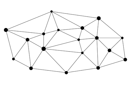 linking: network background abstract polygon triangle and dots.