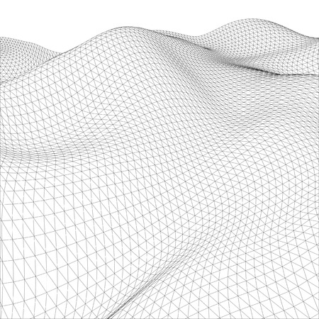 architecture abstract: Abstract wire-frame grid. Illustration created of 3d.