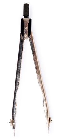 compas de dibujo: brújula aisladas sobre fondo blanco Primer plano de dibujo.