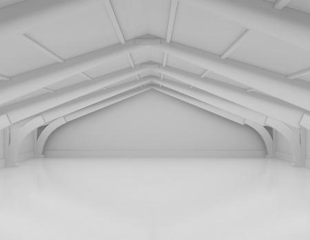 empty warehouse: Modern empty white warehouse interior with reflective concrete floor.