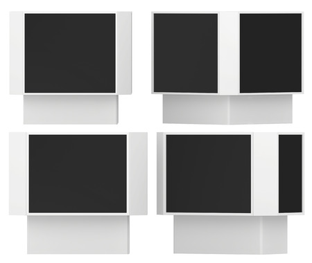 outdoor advertising: Set Outdoor Advertising Stand. Isolated On White Background. 3d rendering.