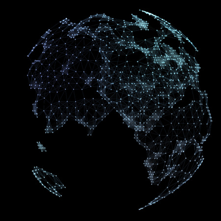World map point, line, representing the global, network connection